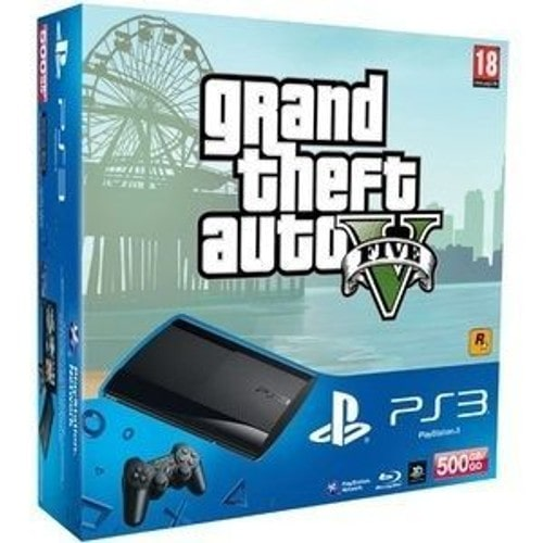 console sony playstation 3 500 go gta v ps3 pas cher rakuten. Black Bedroom Furniture Sets. Home Design Ideas