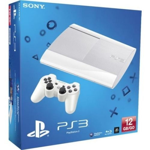 console sony playstation 3 blanche 12 go 1 manette pas cher. Black Bedroom Furniture Sets. Home Design Ideas