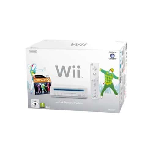 console wii blanche just dance 2 pack pas cher. Black Bedroom Furniture Sets. Home Design Ideas