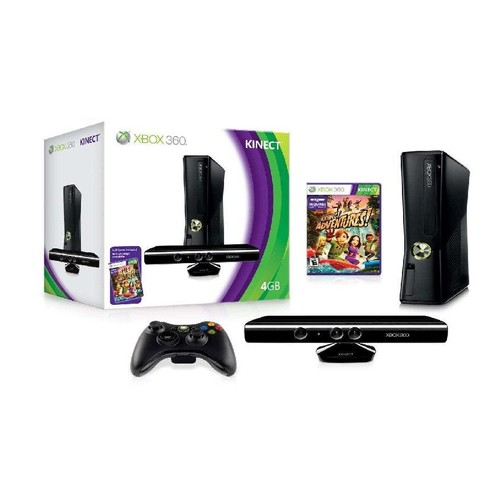 console xbox 360 4go kinect kinect adventures pas cher. Black Bedroom Furniture Sets. Home Design Ideas