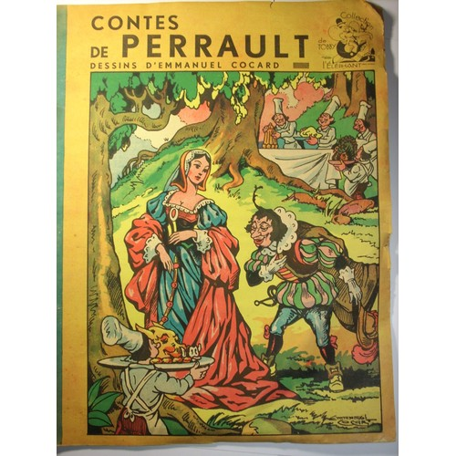 Contes de perrault dessins d 39 emmanuel cocard riquet la houppe le chat bott de charles perrault - Dessin chat botte ...