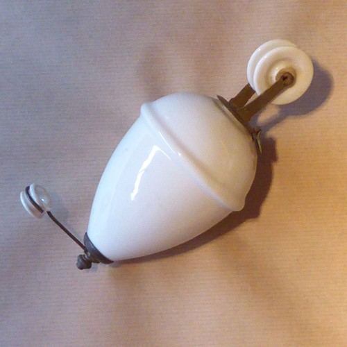 Complet Fin Siècle Pour Lampe 19° En Plafonnier Contrepoids Faïence SVGUzMqp