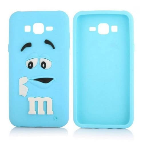 coque 3d en silicone bleu m m 39 s pour samsung galaxy j5 pas cher. Black Bedroom Furniture Sets. Home Design Ideas