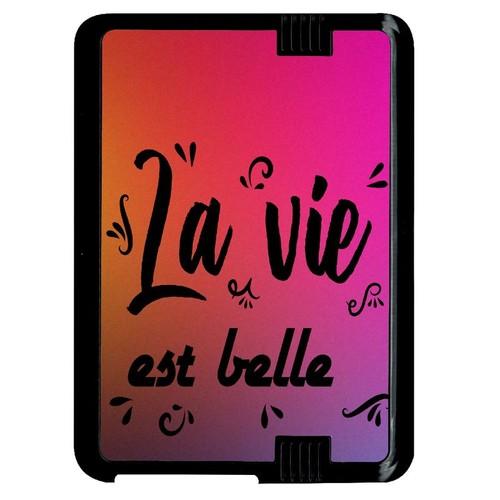 a546bbd38fcf0 Coque Amazon Kindle Fire 7 Hd La Vie Est Belle Fond Colors pas cher