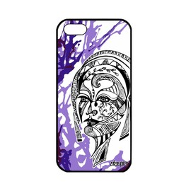 Coque femme silicone iPhone 5 5S SE portrait art azteque couleur swag TPU Apple iPhone 5 iPhone 5S iPhone SE