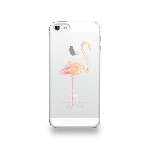 Coque Apple Iphone 5 5s Se Silicone Motif Flamant Rose Pastel