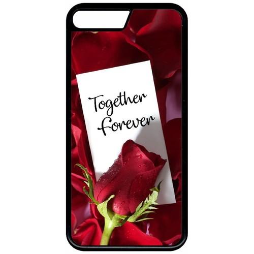 coque iphone 8 plus avec une rose rouge