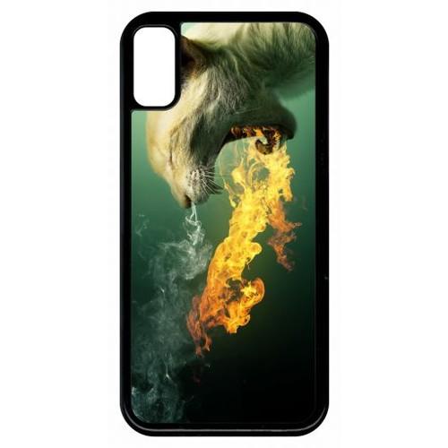 coque iphone x flammes