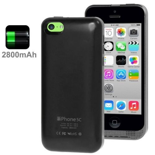 coque batterie chargeur 2800mah pour iphone 5c pas cher. Black Bedroom Furniture Sets. Home Design Ideas