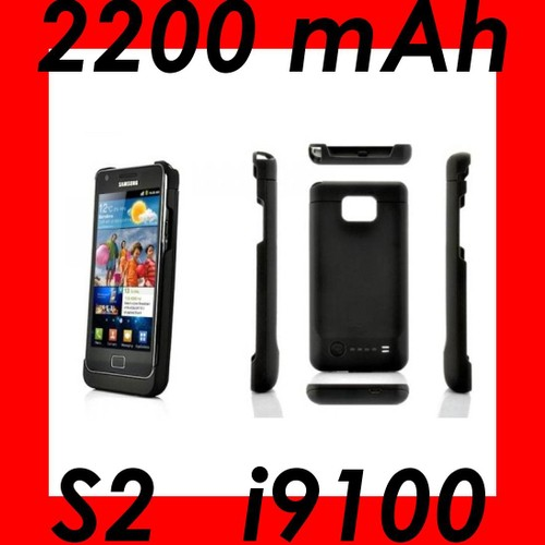 coque batterie chargeur externe 2200 mah pour samsung galaxy s2 i9100. Black Bedroom Furniture Sets. Home Design Ideas