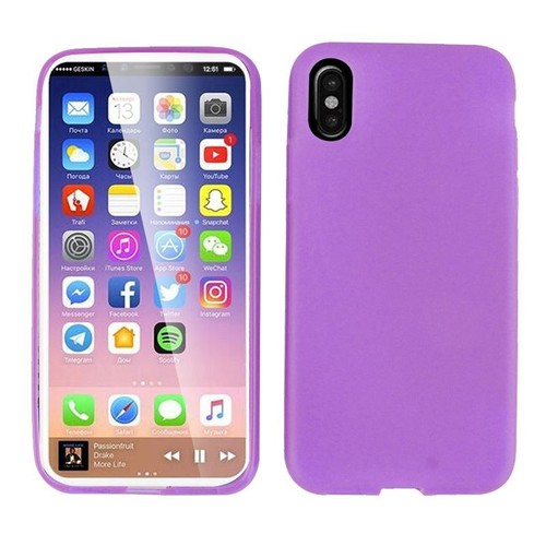 coque apple iphone x violet