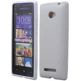 Coque De Protection Semi Rigide Fa�on S Htc Windows Phone 8 Blancs