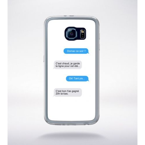 coque galaxy s6 message