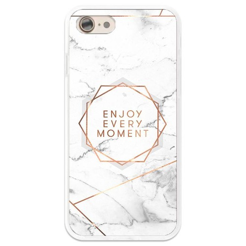 Coque Effet Marbre Enjoy Every Moment Rose Gold Iphone 5 5s Se