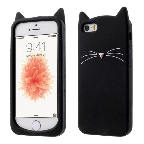 coque iphone 5 chat silicone