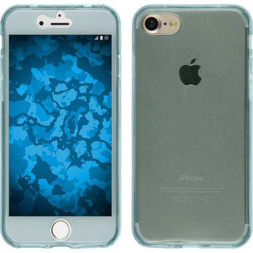 coque en silicone pour apple iphone 7 360 fullbody bleu clair cover phonenatic cubierta. Black Bedroom Furniture Sets. Home Design Ideas