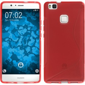 coque silicone rouge huawei p9 lite