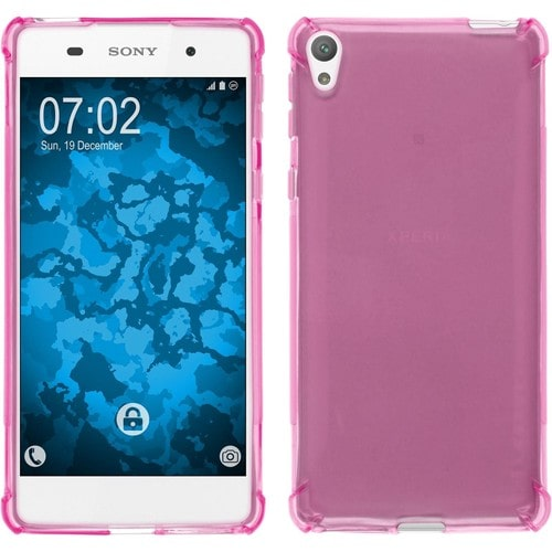 coque en silicone pour sony xperia e5 shockproof rose. Black Bedroom Furniture Sets. Home Design Ideas