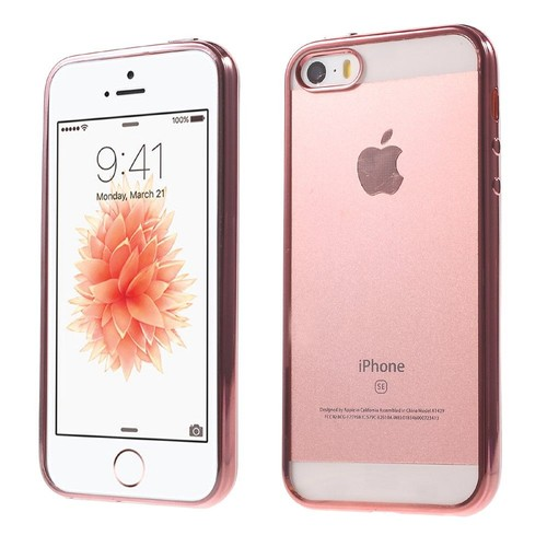 Coque En Tpu Edge Back Pour Iphone Se 5s 5 Rose Gold Pas Cher