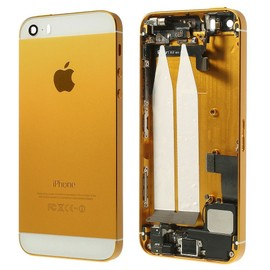Coque Façade Arrière Châssis Full Assemblée Gold/Blanc pour iPhone ...