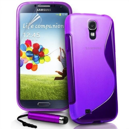 Coque housse etui samsung galaxy s4 silicone i9500 violet for Housse samsung galaxy s4