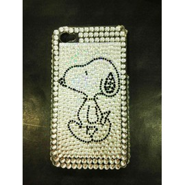 Coque Housse Strass Brillante Luxe Snoopy Iphone 4 4s