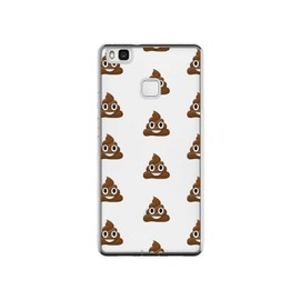 Coque Huawei P9 Lite Shit Poop Emoticone Emoji Transparente - Laetitia