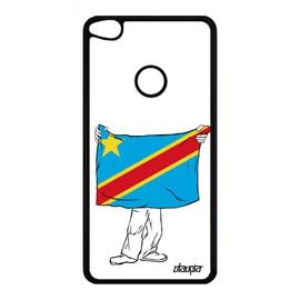 Coque Huawei P9/P8 Lite 2017 silicone drapeau rdc congo kinshasa congolais republique democratique du jo coupe du monde gel football
