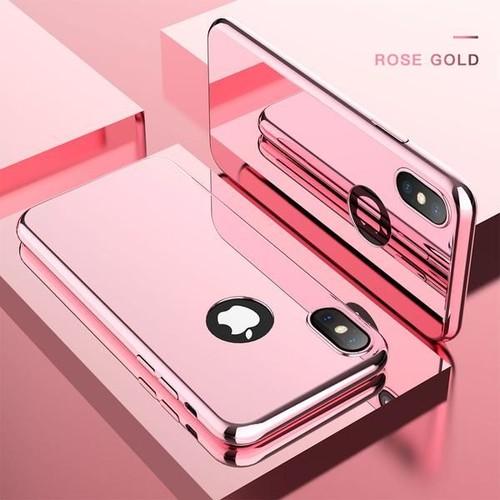 Coque Integrale Pour Apple Iphone 7 Plus Miroir Rose Vitre Verre