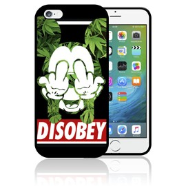 Coque iPhone 4 et iPhone 4S Mickey Disobey Weed Fuck Swag ...