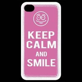 Coque Iphone 4 / Iphone 4s Keep Calm Smile