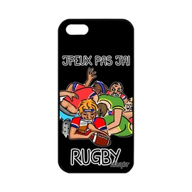 Coque iPhone 5 5S SE silicone j'peux pas j'ai rugby 4G swag de protection Apple iPhone 5 iPhone 5S iPhone SE