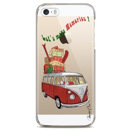 Coque iPhone 5/5s/SE transparente motif dessin, designer, valises, voyage, vacances, travel, impression haute qualité coque hybride avec bumper souple ...