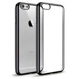 Coque iPhone 5/ 5s/ SE , WELKOO® Coque iPhone 5s en silicone, Housse iphone 5 en Silicone couleur transparente contour noir brillant, souple et ...