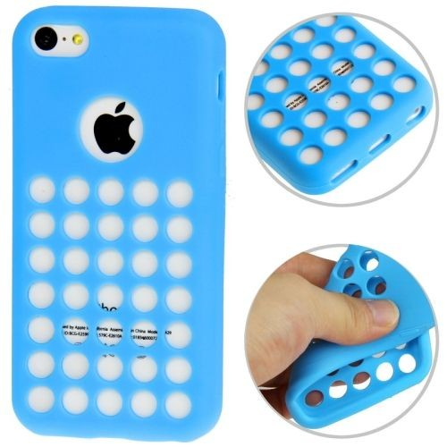coque iphone 5c case bleu silicone souple pour iphone 5c film iphone 5c offert. Black Bedroom Furniture Sets. Home Design Ideas