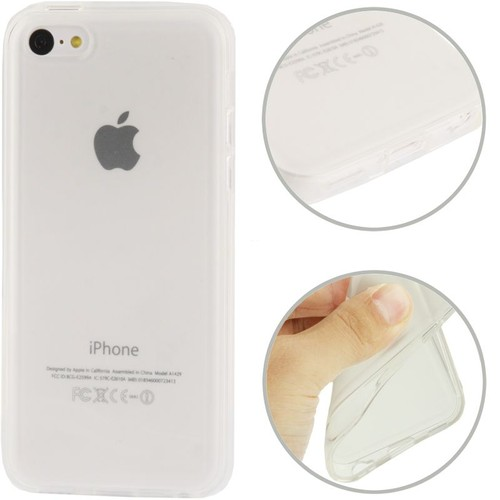 Coque iphone 5c housse silicone souple transparent pour for Housse iphone 5 c
