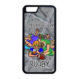 Coque iPhone 6 6S Plus silicone humour j'peux pas j'ai rugby dessin motif Apple iPhone 6 Plus iPhone 6S Plus
