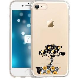 Coque Iphone 7 8 SE 2020 bonsai jaune moutarde