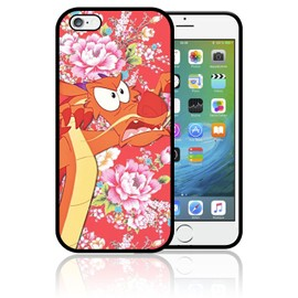 Coque iPhone 7 PLUS et iPhone 8 PLUS Mushu Mulan Disney Vintage Fleurs Flowers Disney0330