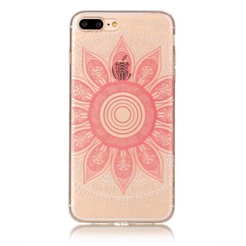 coque iphone 8 rose transparente