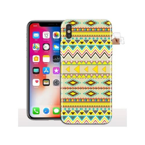 coque iphone x apple silicone jaune