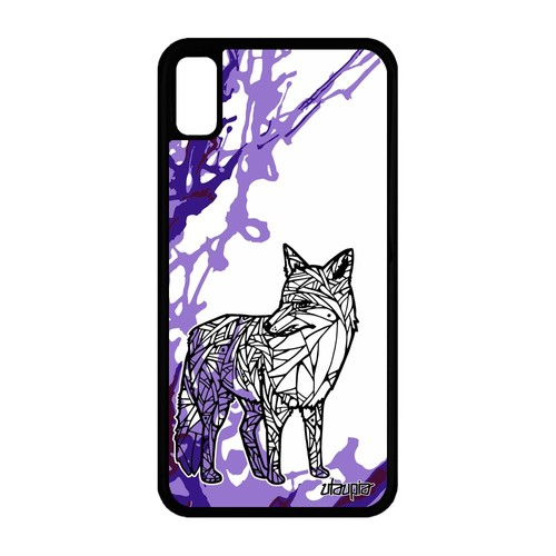 coque iphone xr silicone lila