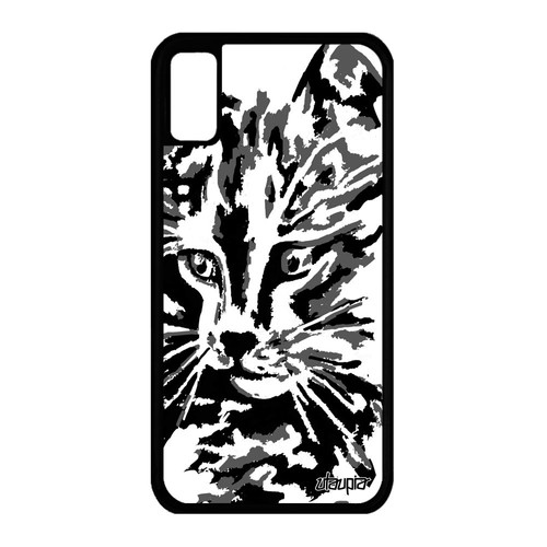 coque iphone xs silicone chat