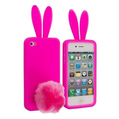 coque lapin iphone 5 en silicone rose fushia rabito 1 film pas cher. Black Bedroom Furniture Sets. Home Design Ideas