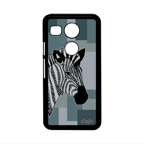 Coque Google Nexus 5x Zebre Animal Geometrique Housse Noir Et Blanc