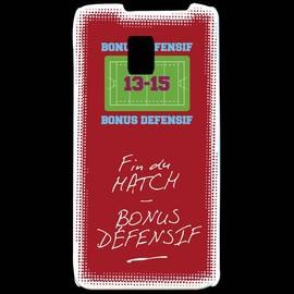 Coque Lg P990 Fin De Match Bonus Offensif-D�fensif Rouge