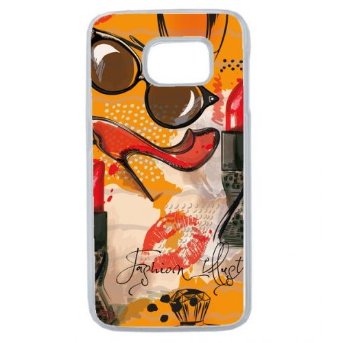 coque galaxy s6 transparente motif