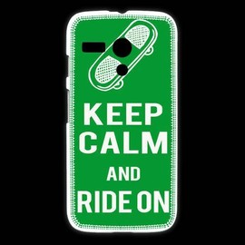 Coque Motorola G Keep Calm Ride On Vert