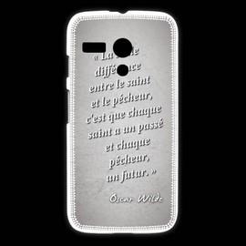 Coque Motorola G Saint P�cheur Gris Citation Oscar Wilde