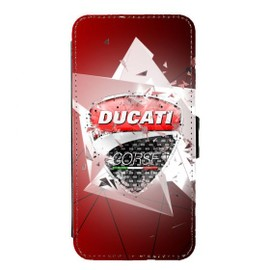 Coque à rabat Galaxy S7 EDGE Fan de Ducati corse Geometric